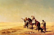The Desert Hunt painting reproduction, Etienne Billet