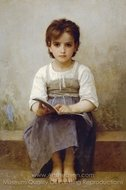 The Difficult Lesson (La lecon difficile) painting reproduction, William A. Bouguereau