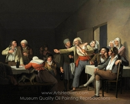 The Disputes Men painting reproduction, Louis Leopold Boilly