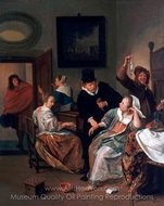 The Doctor's Visit painting reproduction, Jan Steen