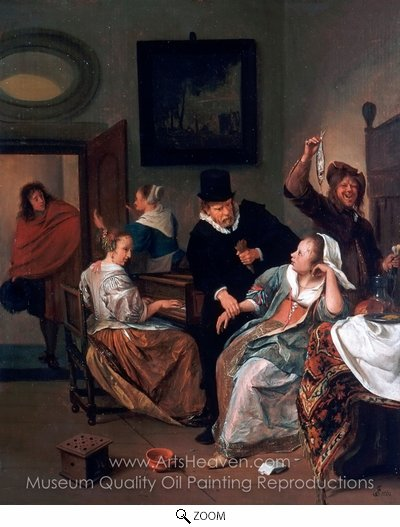 Jan Steen, The Doctor's Visit oil painting reproduction