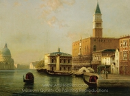 The Doge's Palace with Santa Maria Della Salute in the Distance painting reproduction, Antoine Bouvard