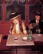 The Drinkers painting reproduction, Jean Beraud