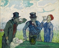 The Drinkers (after Daumier) painting reproduction, Vincent Van Gogh