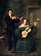 The Duet painting reproduction, Cornelis Bermudes Buys