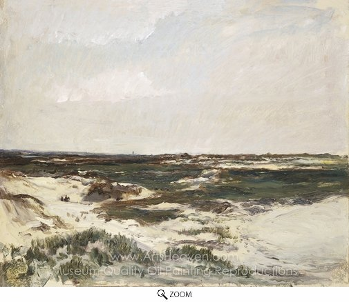 Charles Daubigny, The Dunes at Camiers oil painting reproduction