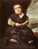 The Dwarf Francisco Lezcano (El Nino de Vallecas) painting reproduction, Diego Velazquez