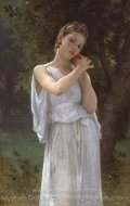 The Earrings (Boucles D'Oreilles) painting reproduction, William A. Bouguereau