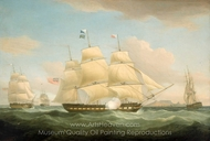 The East Indiamen Minerva, Scaleby Castle and Charles Grant painting reproduction, Thomas Whitcombe