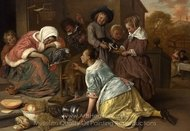 The Effects of Intemperance painting reproduction, Jan Steen