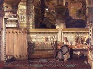 The Egyptian Widow painting reproduction, Sir Lawrence Alma-Tadema