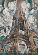 The Eiffel Tower painting reproduction, Robert Delaunay