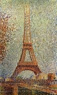 The Eiffel Tower painting reproduction, Georges Seurat
