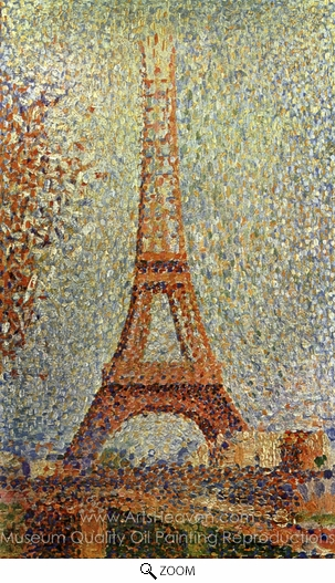 Georges Seurat, The Eiffel Tower oil painting reproduction