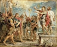 The Emblem of Christ Appearing to Constantine painting reproduction, Peter Paul Rubens