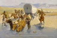 The Emigrants painting reproduction, Frederic Remington