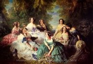 The Empress Eugenie Surrounded by Her Ladies in Waiting painting reproduction, Franz Xavier Winterhalter