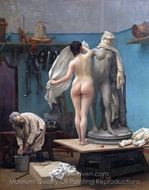 The End of the Sitting painting reproduction, Jean-Leon Gerome