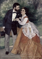 The Engaged Couple painting reproduction, Pierre-Auguste Renoir