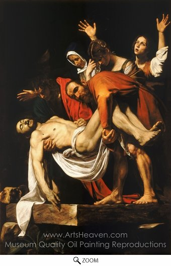 Caravaggio, The Entombment oil painting reproduction