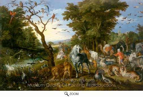 Jan Brueghel, The Entry of the Animals into Noah's Ark oil painting reproduction