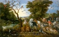 The Entry of the Animals into Noah's Ark painting reproduction, Jan Brueghel