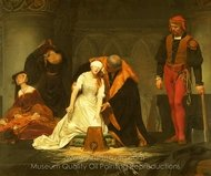 The Execution of Lady Jane Grey painting reproduction, Paul Delaroche