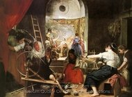 The Fable of Arachne painting reproduction, Diego Velazquez