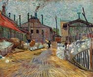 The Factory painting reproduction, Vincent Van Gogh