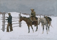 The Fall of the Cowboy painting reproduction, Frederic Remington