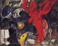 The Falling Angel painting reproduction, Marc Chagall (inspired by)
