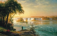 The Falls of St. Anthony painting reproduction, Albert Bierstadt