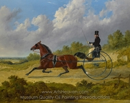 The Famous Trotter Confidence Drawing a Gig painting reproduction, John Frederick Herring Sr.