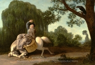 The Farmer's Wife and the Raven painting reproduction, George Stubbs