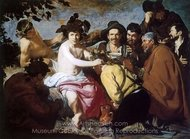 The Feast of Bacchus (Los Borrachos) painting reproduction, Diego Velazquez