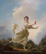 The Feigned Flight painting reproduction, Jean-Honore Fragonard