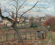 The Fence painting reproduction, Camille Pissarro