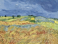 The Fields (Wheat Fields) painting reproduction, Vincent Van Gogh
