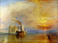 The Fighting Temeraire painting reproduction, Joseph M. W. Turner
