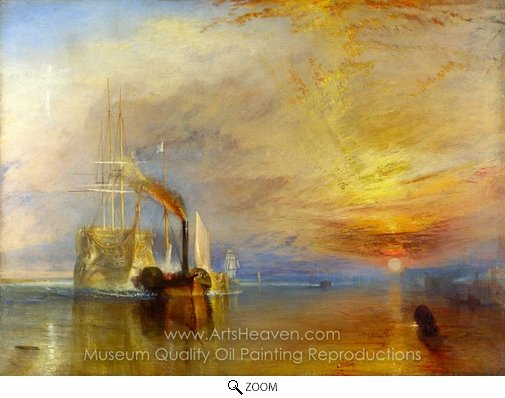 Joseph M. W. Turner, The Fighting Temeraire oil painting reproduction