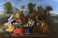The Finding of Moses painting reproduction, Nicolas Poussin