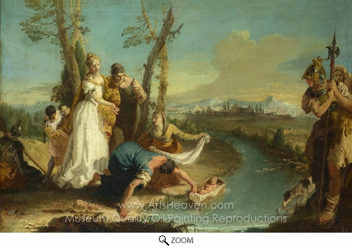 Francesco Zugno, The Finding of Moses oil painting reproduction