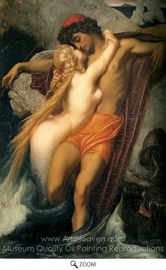 Lord Frederic Leighton, The Fisherman and the Syren oil painting reproduction