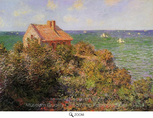 Claude Monet, The Fisherman's Cottage at Varengeville oil painting reproduction