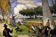 The Fishermen (Fantastic Scene) painting reproduction, Paul Cézanne