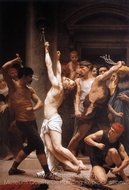 The Flagellation of Christ painting reproduction, William A. Bouguereau