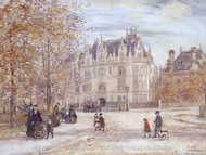 The Fletcher Mansion, New York City painting reproduction, Jean-Francois Raffaelli