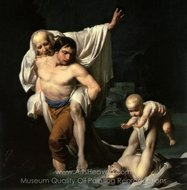 The Flood painting reproduction, Jean Baptiste Regnault