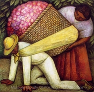 The Flower Carrier painting reproduction, Diego Rivera