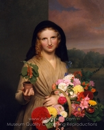 The Flower Girl painting reproduction, Charles Cromwell Ingham